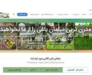 پروژه وب سایت رسمی فروشگاه مبلمان باغی