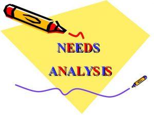 آنالیز و تحلیل نیازها
